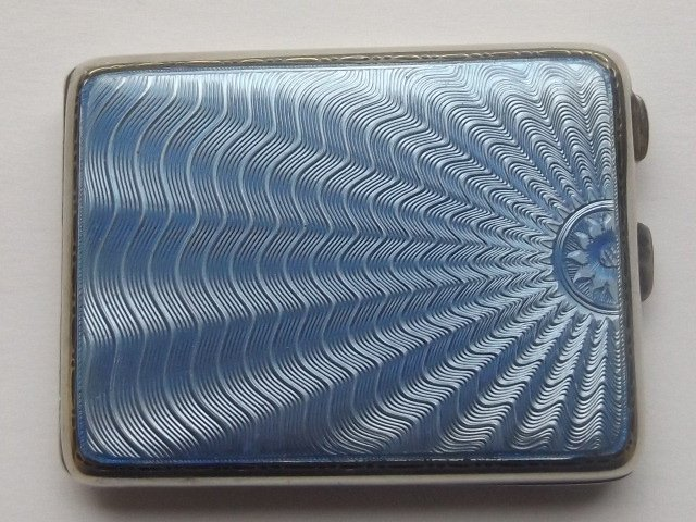 Stunning Silver and Enamel Card Case 1913