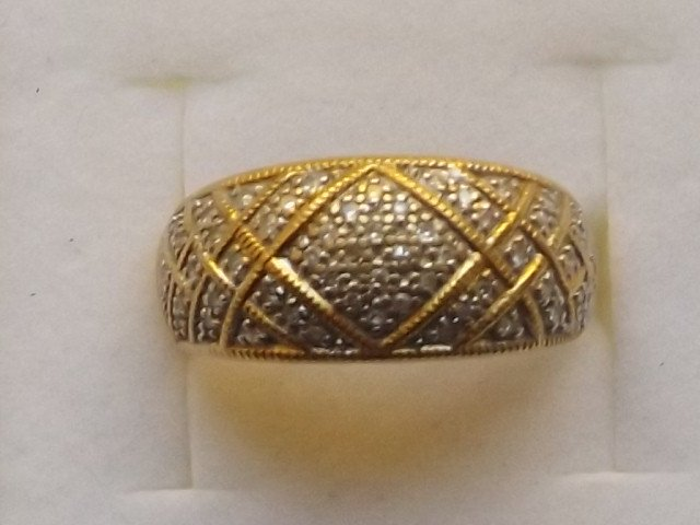 Antique Superb Heavy Art Deco 18ct Gold 0.5CT Diamond Cluster Ring