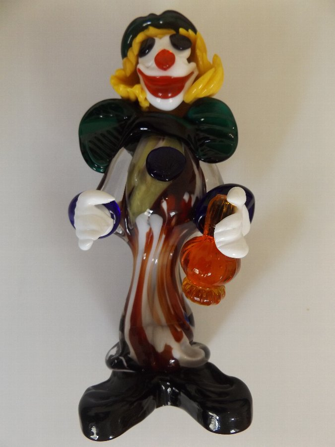 Lovely Vintage Murano Glass Clown