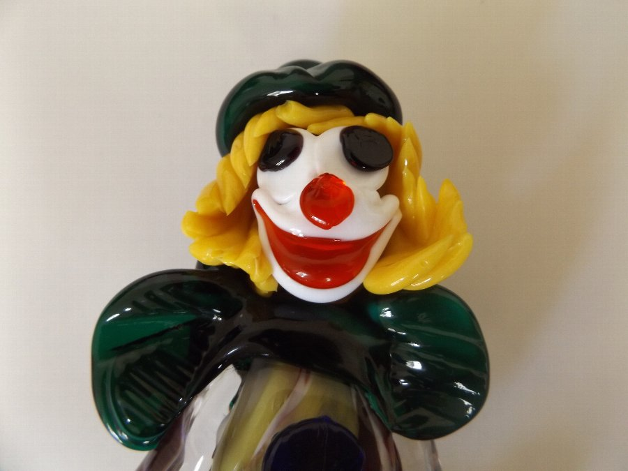 Antique Lovely Vintage Murano Glass Clown