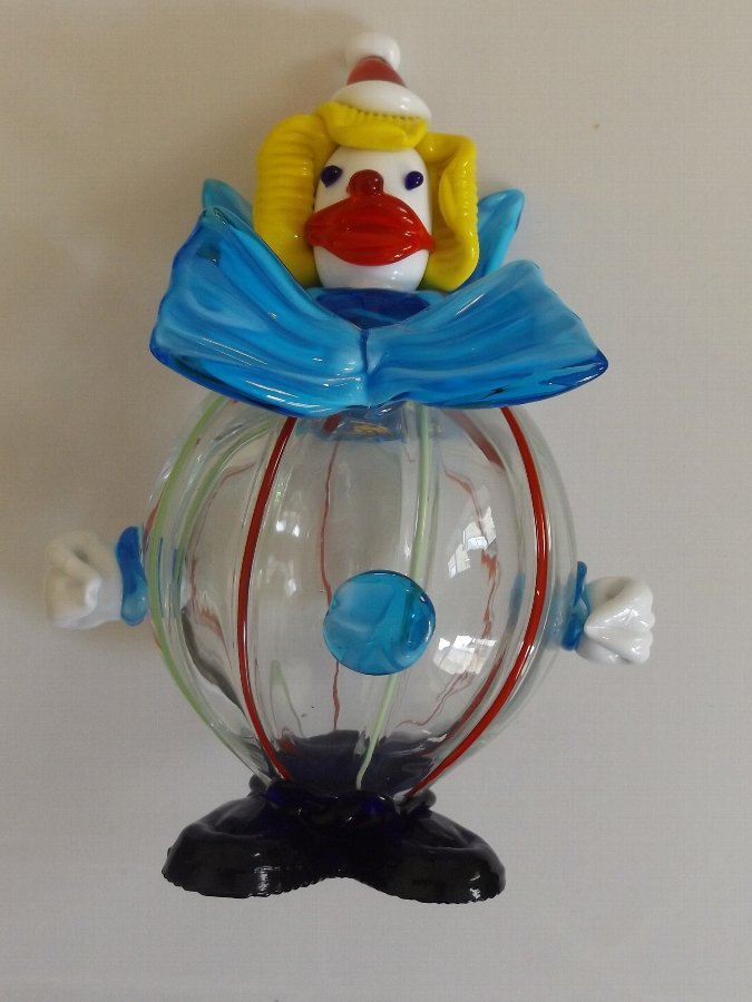 Super Large Vintage Murano Glass Clown