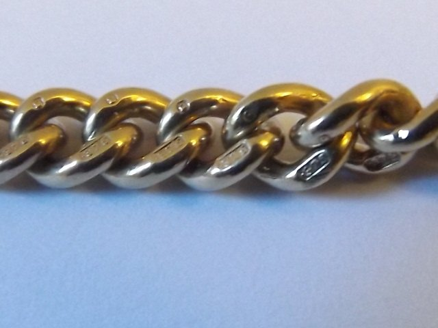 Antique Lovely Victorian 9ct Yellow Gold Curb Link Bracelet
