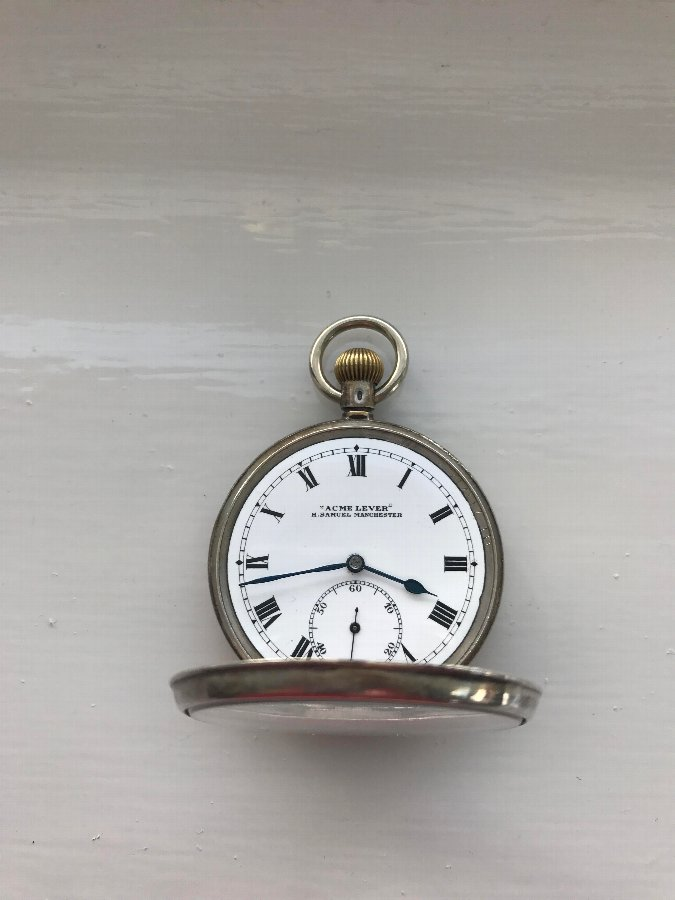 Antique Superb C1920 H.Samuel Silver Pocket Watch