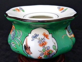Antique Meissen hand painted inkwell - c1800s