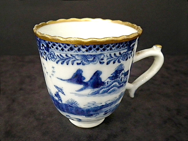 Antique Chinese export antique coffee can - early c1780s