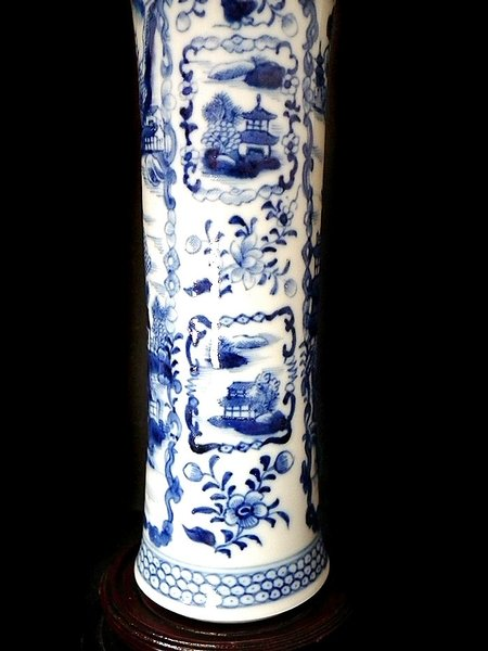 Antique Chinese porcelain antique beaker vase - c1700s
