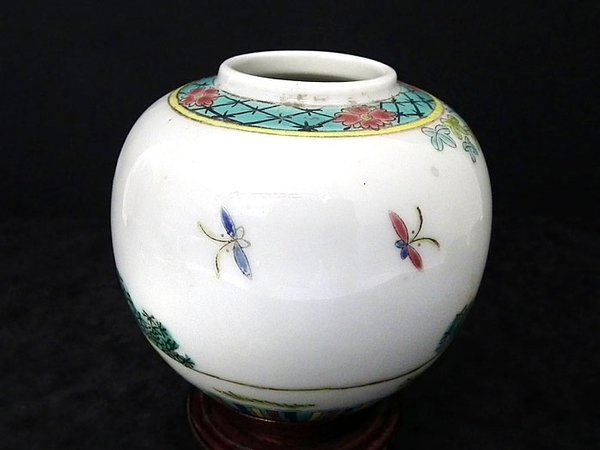 Antique Chinese hand decorated antique vase - c1900