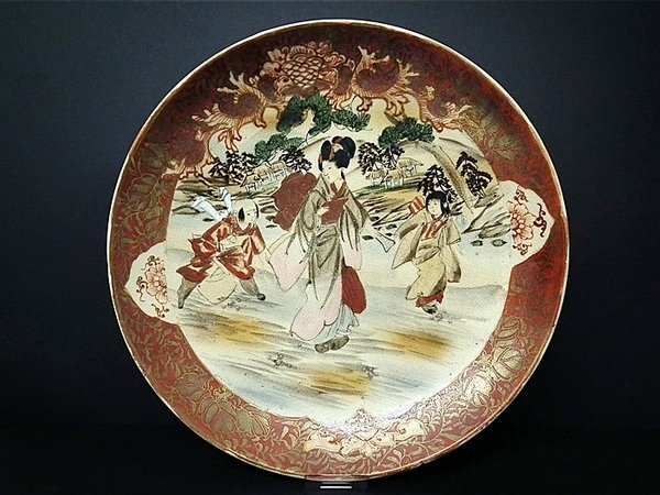 Huge Japanese handpainted antique plate - early c1900s