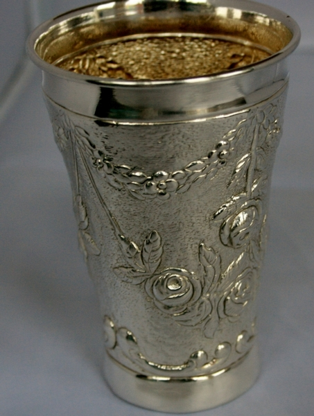 Antique Sterling Silver Beaker Cup