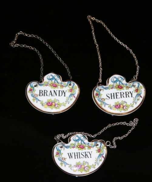 Antique Decanter Labels