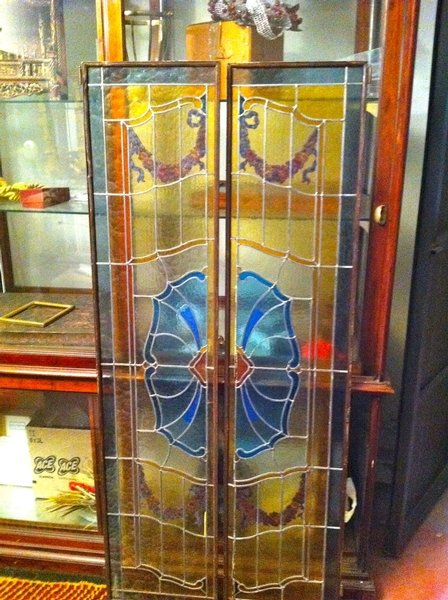 ITALIAN STAINGLASS WINDOW/DOOR FROM VENICE