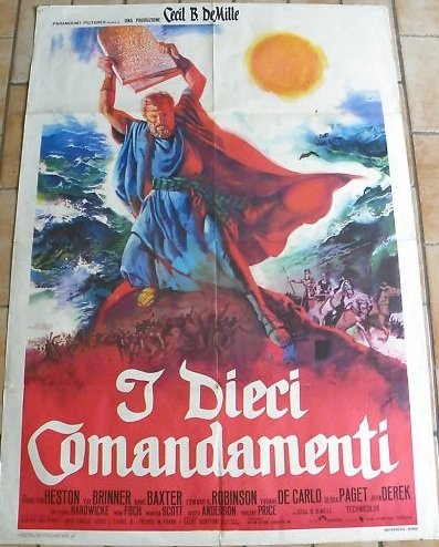 POSTER FROM CINECITTA (ROME) Ten Commandments