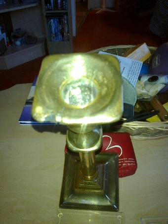 Antique 18th century brass candle stick