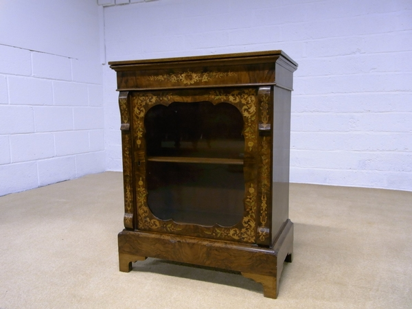Antique Antique marquetry pier cabinet