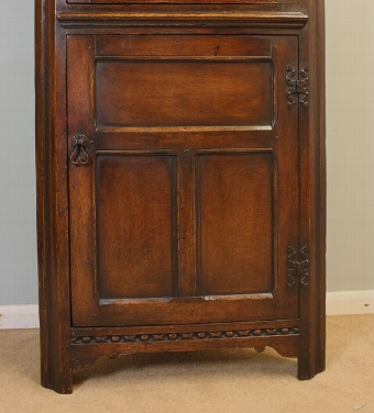 Antique Antique Carved Oak Corner Cupboard.