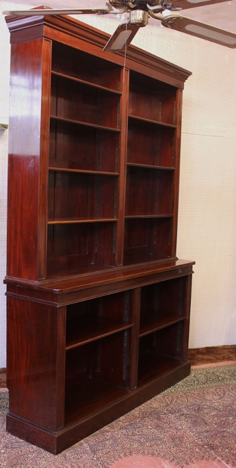 Antique Antique Mahogany Open Bookcase
