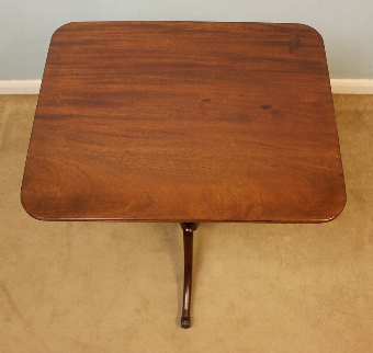 Antique Antique Mahogany 19th Century Tripod Occasional Table,
