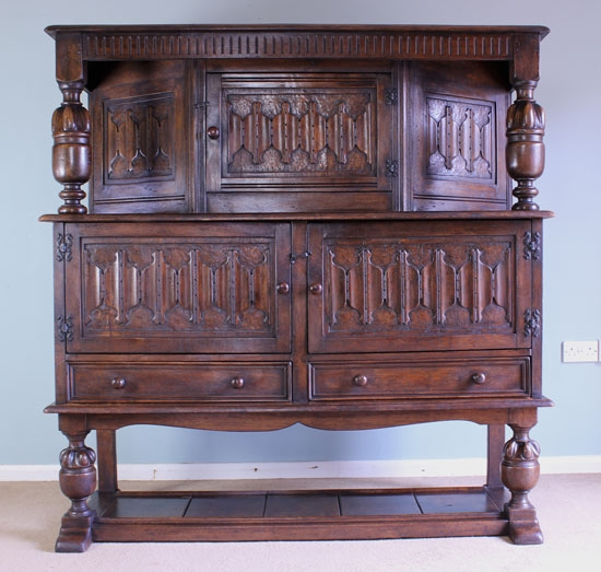 Antique Antique Oak Sideboard Court Cupboard