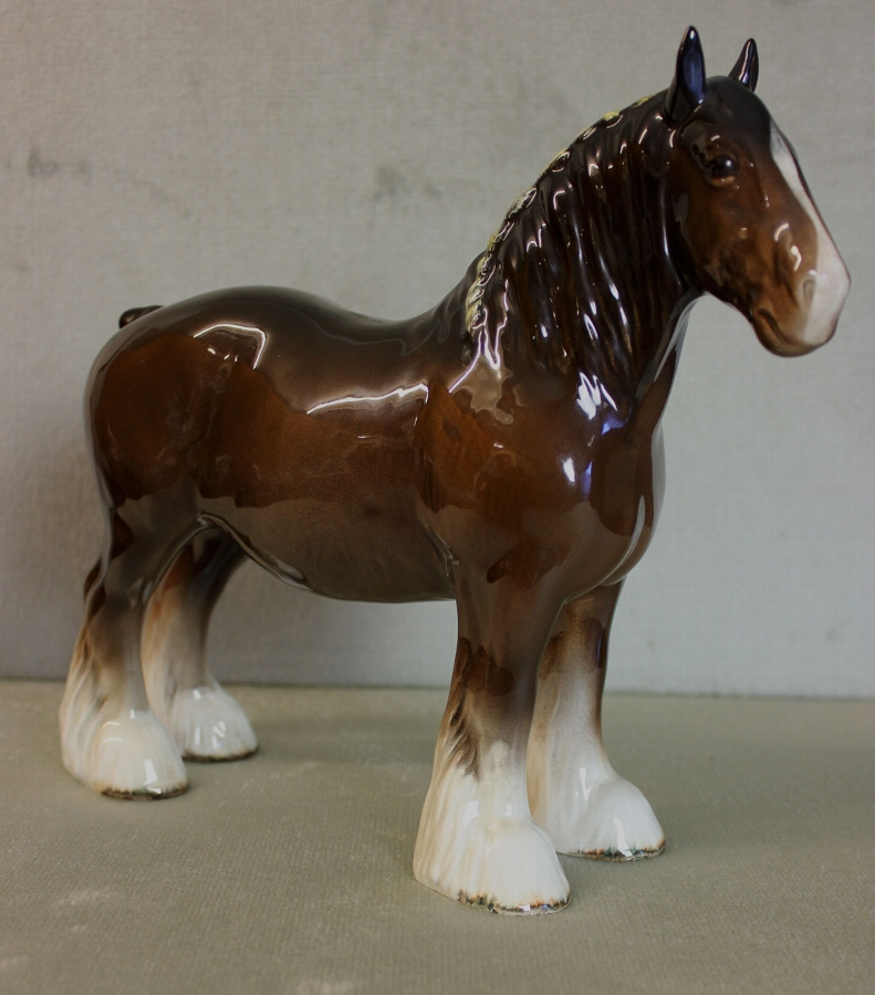 Antique Beswick Shire Horse
