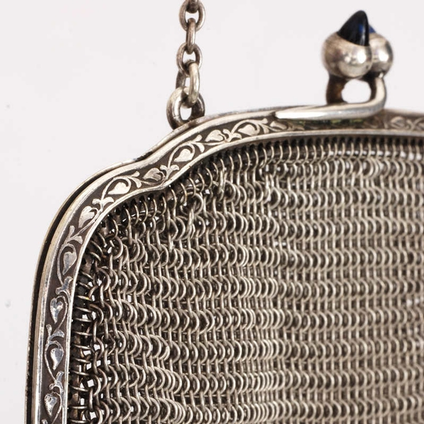 Exquisite Art Deco Chainmail mesh purse