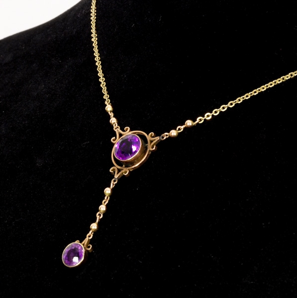 Purple Amethyst Pendant and matching Earrings