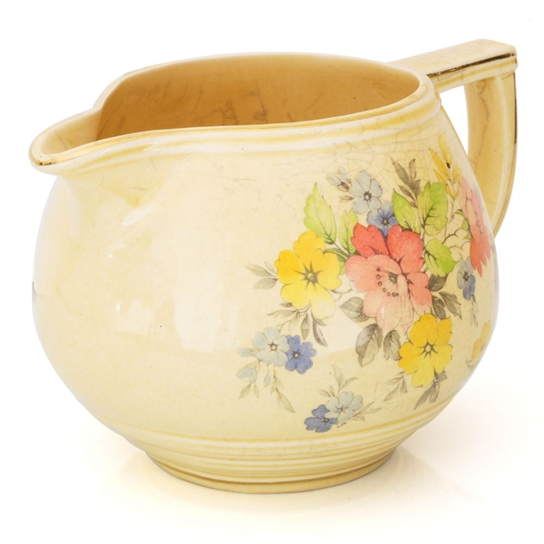 Antique Arthur Wood Floral Jug