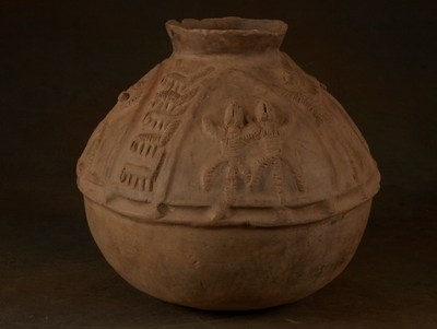 Antique Bariba storage vessel