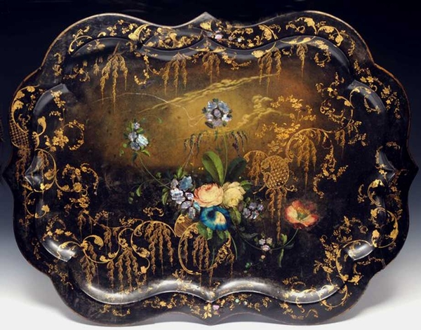 Early Victorian Toleware Tray