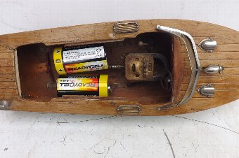 Antique Motor Launch rare Vintage ITO Japan speed boat battery operated, free world post.