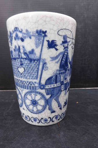 Antique blue & white transfer tumbler