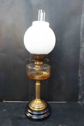 Antique oil lamp Victorian double burner