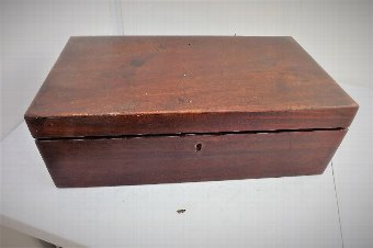 Antique writing slope Georgian military mahogany
