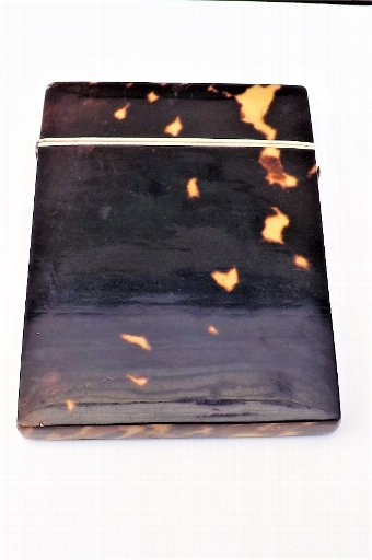 Antique Tortoise shell Victorian Calling card case