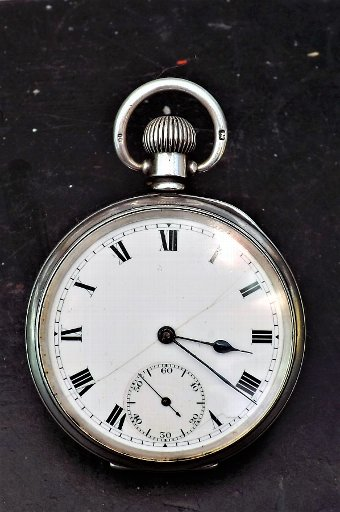 Antique Solid silver pocketwatch English Lever movement