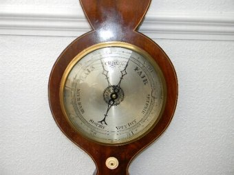 Antique BAROMETER IN MAHOGANY CASE SUPERB GEORGIAN