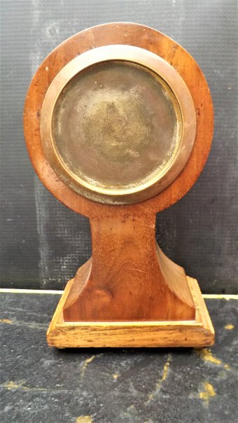 Antique Balloon Clock mahogany inlaid Edwardian Era
