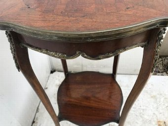 Antique Beautiful  French Kingwood side table