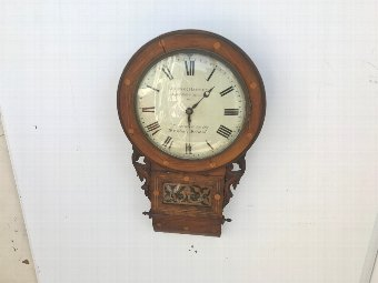 Antique Antique fusee drop dial clock convex dial all original
