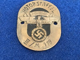 Antique 2ww German Staff car badge