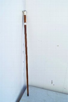 Antique Gentlemans walking stick Silver handled topped swordstick with London Hallmarks