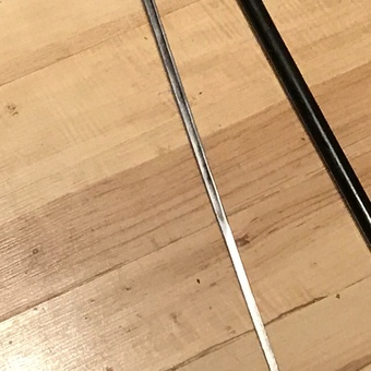 Antique Gentleman's walking stick sword stick with silver handle
