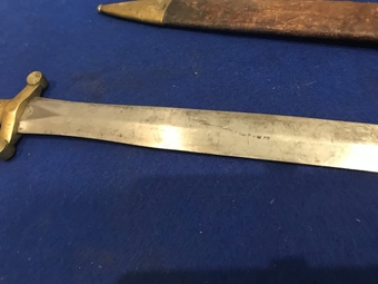 Antique Military man's side arm and scabbard 18th century