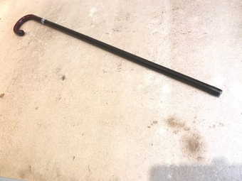 Antique Gentleman's walking stick sword stick with silver mount