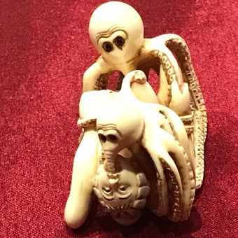 Antique Erotica Japanese ivory carving