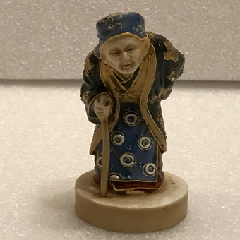 Antique Japanese porcelain figure of old wise man