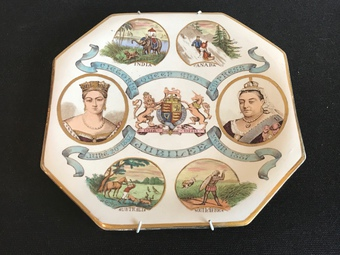 Victoria Empress of India  Jubilee 1887 cabinet plate