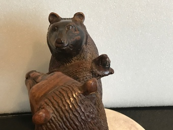 Antique Black Forest family of Bears carving