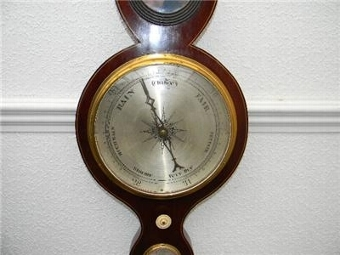 Antique BAROMETER/THERMOMETER LONDON SUPERB WORKING ITEM