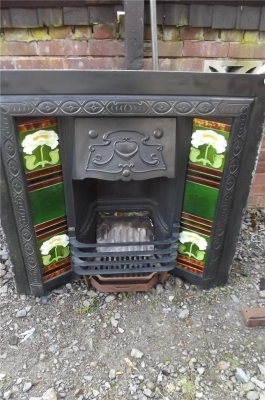Antique FIRE PLACE INSERT VICTORIAN LIVING ROOM TYPE
