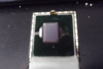 Antique Mans 9ct gold and precious stone ring
